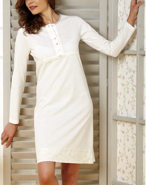 Camicia da notte manica lunga cotone vilfram 7958 don saro - Copridivani in offerta ...