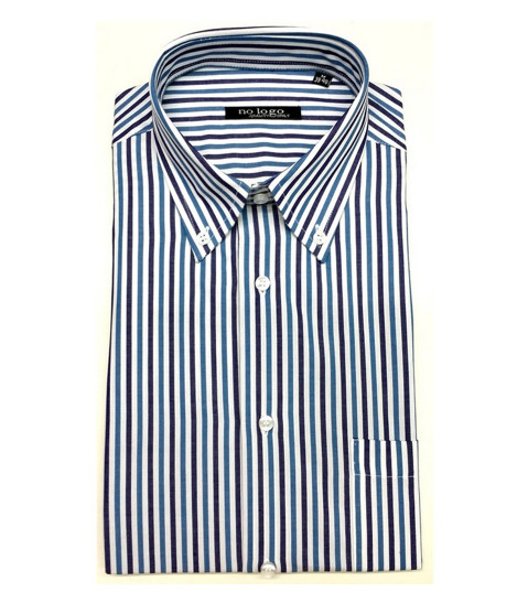 Camicia uomo mezza manica botton down cotone BAX 250 | No label