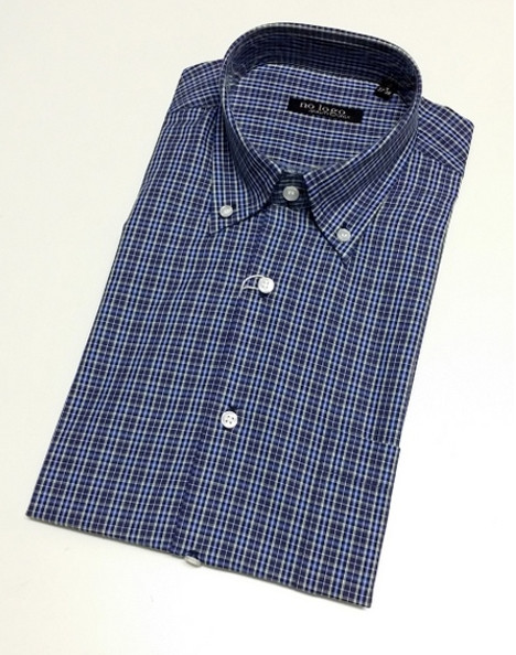 Camicia uomo mezza manica quadretti botton down cotone SALA | No label