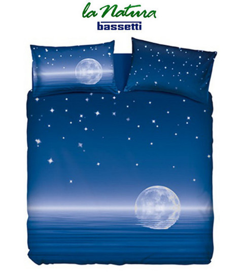 Completo lenzuola copriletto BASSETTI HOME INNOVATION MAGIC MOON