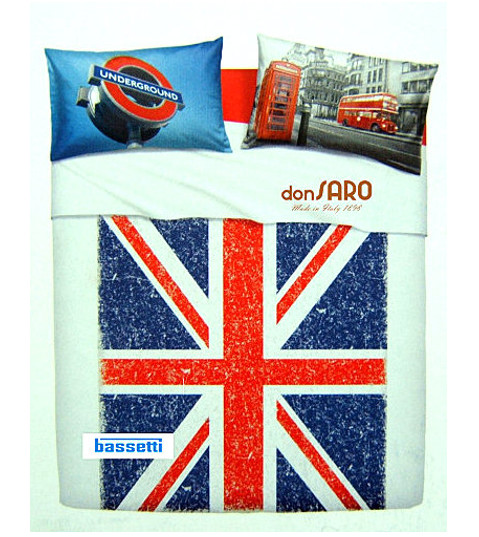 Completo lenzuola copriletto BASSETTI Home Innovation UNION JACK