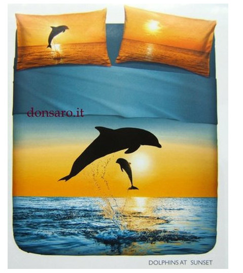 Completo Lenzuola Singolo BASSETTI Dolphins at Sunset