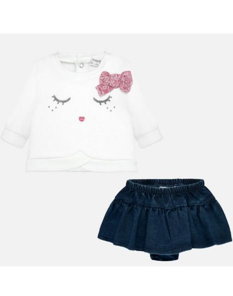 best sneakers 7dbb4 699de Completo neonata gonna jeans e maglietta, Mayoral 02836