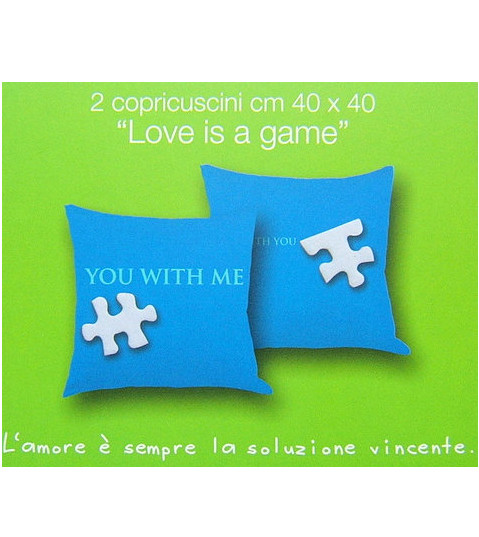 Coppia copricuscino BASSETTI Love is a Game 9 outlet sconto 70%
