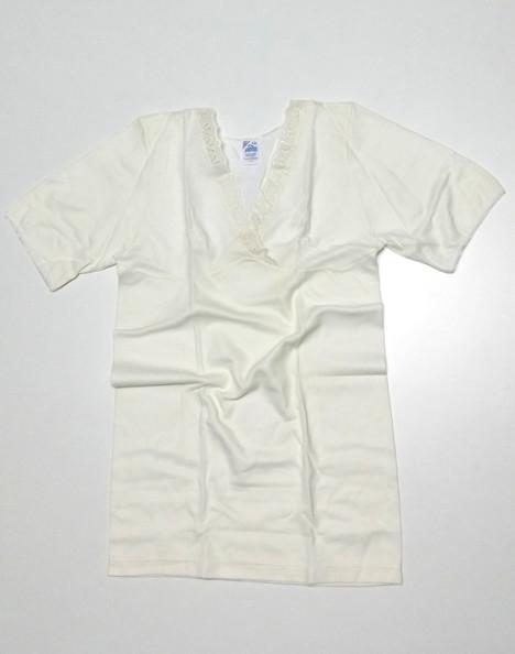 f7ed124b5e Maglia donna mezza manica con garbo di seno cotone e lana | Don Saro