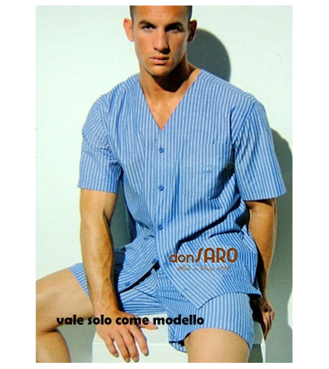 0b9151f4f7 ... Pigiama Uomo NAVIGARE con Giacca Mezza Manica Pantalone Corto 14708  Azzurro
