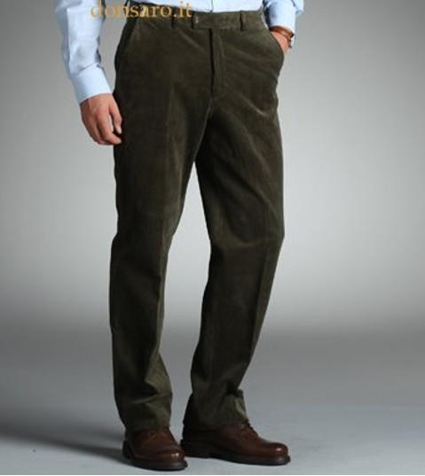 nuovo prodotto 10a3c be05f Pantalone Classico Uomo Velluto a coste mille righe Duca ...