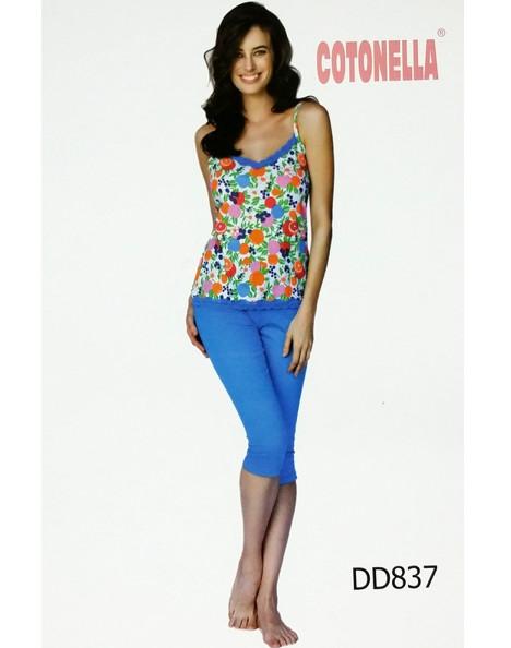 online retailer 98502 8acf8 Pigiama donna spalla stretta e pinocchietto COTONELLA 837