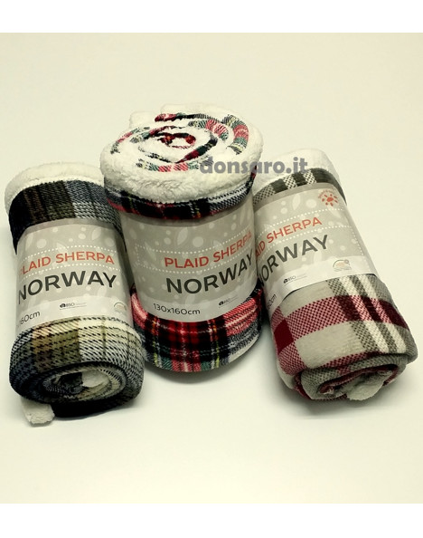 Plaid Fleece Sherpa NORWAY