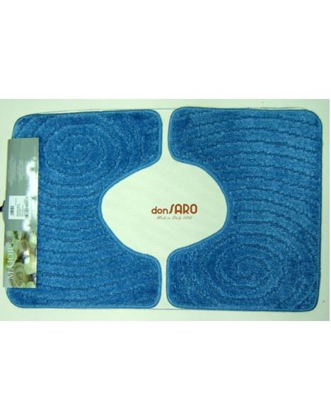 Set tappeto bagno 3 pezzi antiscivolo spirale don saro - Set tappeti bagno ...